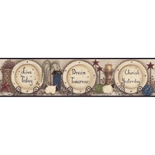Pale Taupe/Tan/Blue Words Wallcovering by York