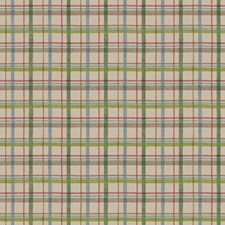 Cool Soft Taupe/Spring Green/Emerald Green Check Wallcovering by York